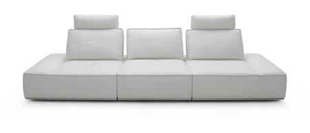 VIG Furniture VGKK1323OWHT Divani Casa Orchid Series Reclining Leather Sofa