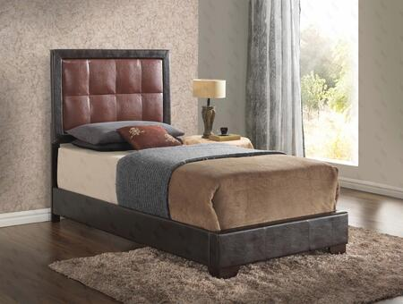 Glory Furniture G2500 Collection Bed with Low Profile, Tufted Headboard and Faux Leather Upholstery in