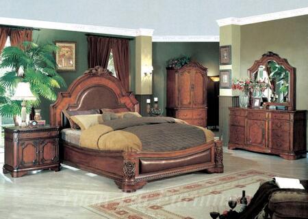 Yuan Tai HM5700QTVSET Hampton Series 5 Piece Bedroom Set