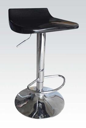 Acme Furniture 1773 Sybill Adjustable Air Lift Stools with Low Back Seat, Durable Construction and Chrome Foot Rest in