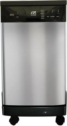 "Sunpentown SD-9241 18"" Portable Dishwasher with Time Delay Feature, Error Alarm, Rinse Aid Warning Indicator, Stainless Steel Interior, 6 Wash Programs in"