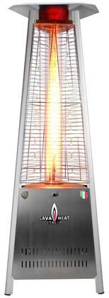 Lava Heat LHI Liquid Propane Triangular 6 ft. Tall Commercial Flame Patio Heater with 42,000 BTU Power Rating, 5 ft. Heat Radius and Safety Tilt Switch