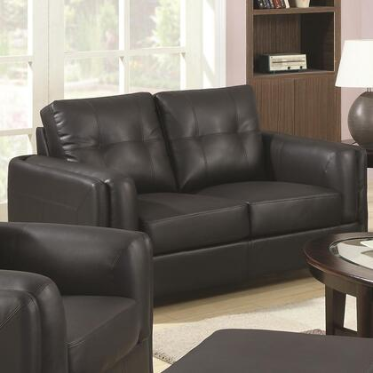 Coaster 504452 Sawyer Series Bonded Leather Stationary with Wood Frame Loveseat