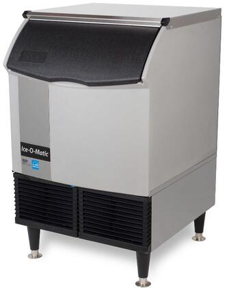 Ice-O-Matic ICEU150 Self-Contained  Cube Ice Machine with  Condensing Unit, Integrated Storage, Superior Construction, Cuber Evaporator, Harvest Assist and Filter-Free Air: Durable Stainless Steel Top Panel