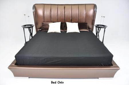 VIG Furniture VGWCTEM-8C301A Temptation Caesar Italian Classical Design Leather Platform Bed