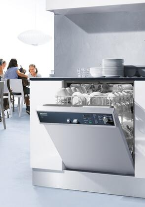 """Miele G7856 24"""" Professional Series Dishwasher with Visible Control Panel, 7 Wash Programs, 12 Place Settings, Built-In Water Softener, Double WaterProof System and Touchtronic Controls in Stainless Steel"""