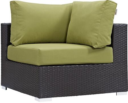 Modway EEI1840EXPPER Convene Series  Aluminum Frame  Patio Chair