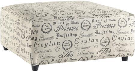 Flash Furniture FSD1669OTTQTZGG Alenya Series Contemporary Fabric Metal Frame Ottoman