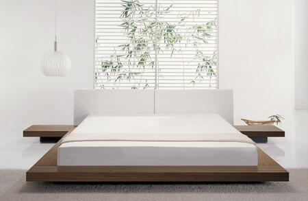 Modloft HB39AQWAL Worth Series  Queen Size Platform Bed
