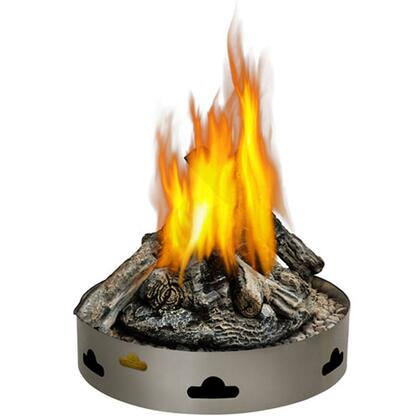 """Napoleon GPFX-1 20"""" Fire Pit With 5-Piece Patented Glocast Log Set, Easy Installation, All Stainless Steel Construction, Incredible Radiating Heat & In Stainless Steel"""