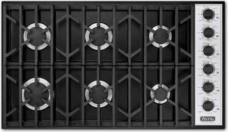 Viking VGSU1646BBK Professional Series Gas Sealed Burner Style Cooktop, in Black