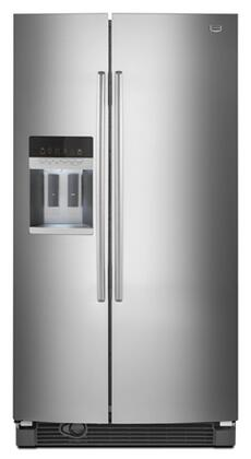 Maytag MSD2559XEM  Side by Side Refrigerator with 25.4 cu. ft. Capacity in Monochromatic Stainless Steel
