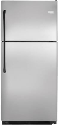 Frigidaire FFHT2116LS Freestanding Top Freezer Refrigerator with 20.5 cu. ft. Total Capacity 2 Glass Shelves 5.26 cu. ft. Freezer Capacity