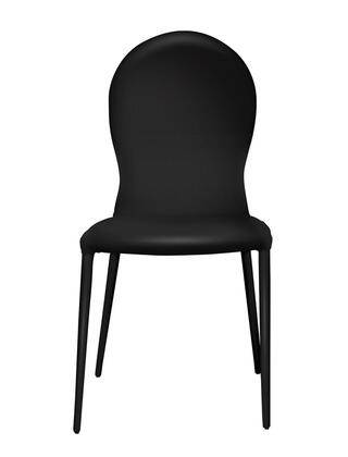 """Casabianca Ponce Collection TC-167 37"""" Dining Chair with Eco-Leather Upholstery, Stitched Detailing and Tapered Metal Legs in"""