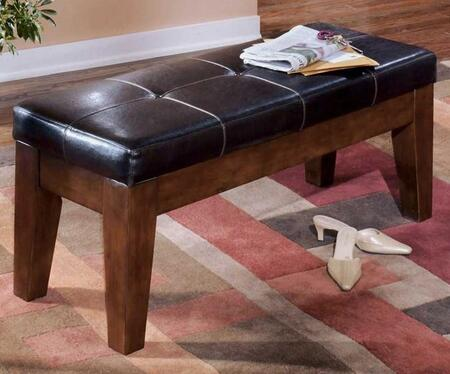 Signature Design by Ashley D44200 Larchmont Series Accent Armless Wood Faux Leather Bench