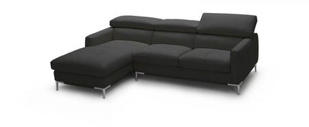 1281b italian leather sectional, left arm chaise facing, black 10