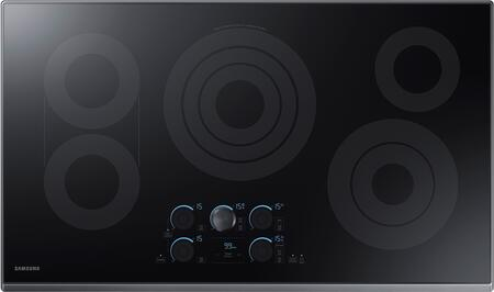 """Samsung NZ36K7570RT 36"""" Electric Cooktop with 5 Elements, Rapid Boil, Magnetic Knob Tap Touch, Sync Elements and Wifi, in"""
