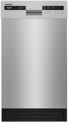 "Whirlpool WDF518SAH 18"" Dishwasher with Energy Star Certified, 52 DBA, 5 Cycles, Stainless Steel Tub, and ADA Compliant, in"