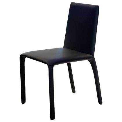 VIG Furniture VGGUHY142CHBLK Modern Leather Dining Room Chair