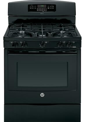 "GE JGB760DEFBB 30"" Gas Freestanding Range with Sealed Burner Cooktop, 5.6 Primary Oven Capacity, Storage in Black"