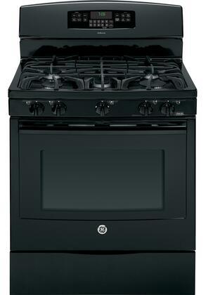 "GE JGB760DEFBB 30""  Gas Freestanding Range with Sealed Burner Cooktop, 5.6 Primary Oven Capacity, Storage in Black"