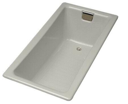 "Kohler K-850S- Tea-for-Two Collection 60"" Drop In Cast Iron Soaking Bath Tub with Reversible Drain:"
