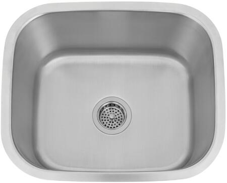 """Barclay PSSSB209X Vivian X"""" Rectangular Undermount Bar/Prep Sink with Solid 16 Gauge Metal Construction and 1 Wide Lip in Matte Stainless Steel"""