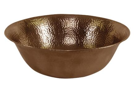 "Houzer HWSIEXV Hammerwerks 16"" Single Bowl Sierra Hammered Vessel Sink:"