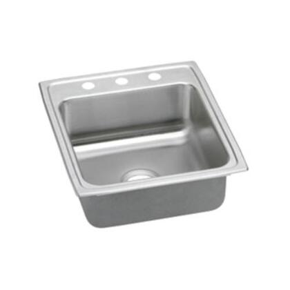 "Elkay LRADQ202240 Lustertone 4"" Top Mount Single Bowl Stainless Steel Sink"