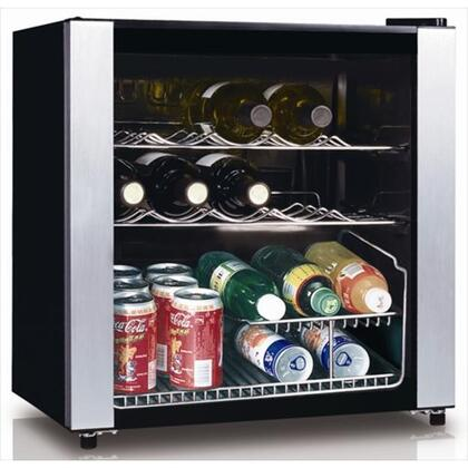 """Equator WR6416 18.5"""" Freestanding Wine Cooler, in Black with Stainless Steel Trim"""