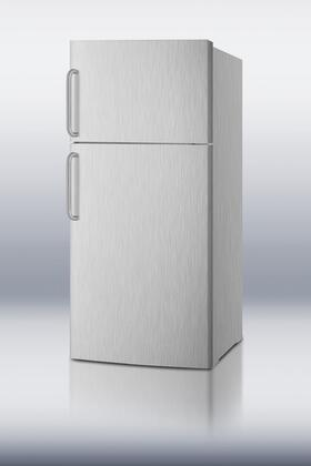 Summit FF1620WCSS Freestanding Top Freezer Refrigerator with 15.8 cu. ft. Total Capacity 2 Glass Shelves