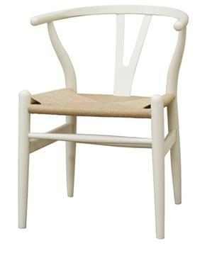 Wholesale Interiors DC541WHITE Wishbone Series  Accent Chair