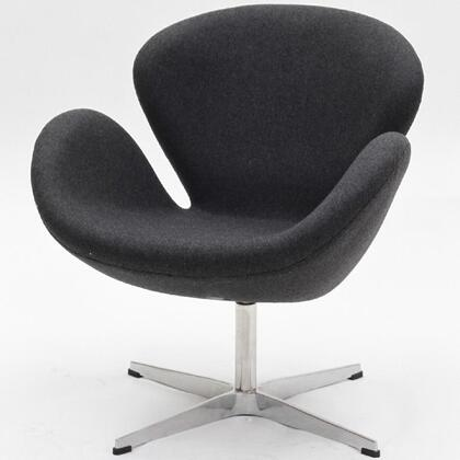 Modway EEI137LGR Wing Series Modern Fabric Metal Frame Accent Chair