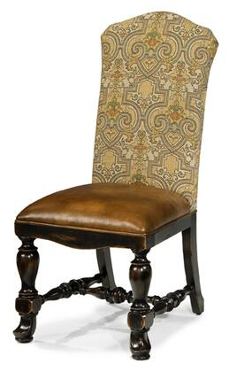 Ambella 00270610001 Aspen Series Traditional Fabric Wood Frame Dining Room Chair