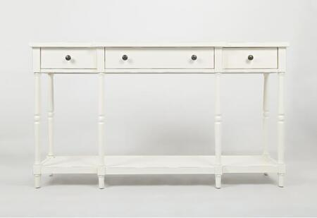 """Jofran Stately Home Collection 163X-60 60"""" Breakfront Console with Three Drawers and Turned Leg in XX"""