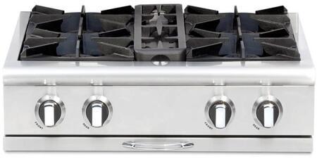 "Capital CGRT304N 30"" Culinarian Series Gas Open Burner Style Cooktop, in Stainless Steel"