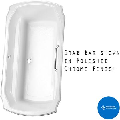Toto ABY974N01 Guinevere Series Drop-In Soaker Bathtub with Acrylic Construction, Slip-Resistant Surface, and Grab Bar, Cotton Finish