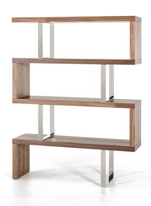 VIG Furniture VGBBMD105WAL Modrest Maze Series Wood  Bookcase