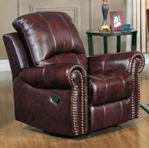 Yuan Tai GR8811CBR Gretna Series Leather Wood Frame  Recliners