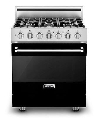 "Viking RVGR3305BBK 30"" Gas Freestanding Range with Sealed Burner Cooktop, 4.0 cu. ft. Primary Oven Capacity, in Black"