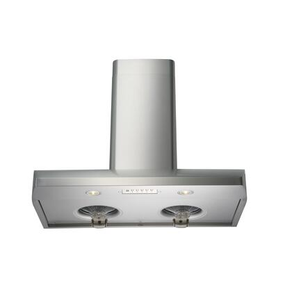Kobe CH22 Wall Mount Range Hood With 800 CFM, 6 Speeds, Electronic button control, ECO Mode, Delay shutoff, LED lights and QuietMode in Stainless Steel
