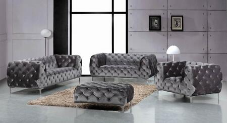 Meridian 646GRYSLCO Mercer Living Room Sets