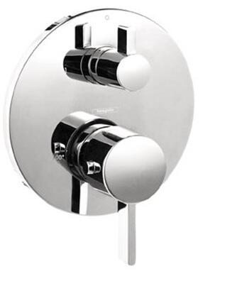 Hansgrohe 4231 Double Handle Thermostatic Valve Trim with Volume Control, Diverter and Metal Lever Handles: