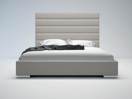 Modloft MD319KGRY Prince Series  King Size Platform Bed