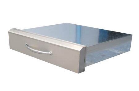 Sunstone A-XD30 Premium Drawer with Pocket Shelf in Stainless Steel