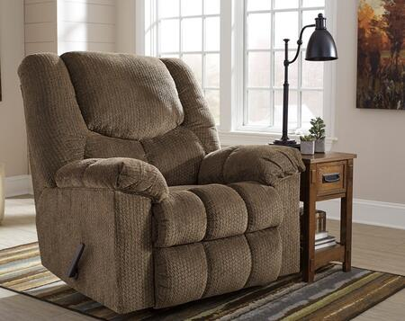 Flash Furniture Signature Design by Ashley Turboprop Rocker Recliner with Plush Pillow Back, Rocker Feature, Lever Recliner, Metal Frame and Fabric Upholstery in