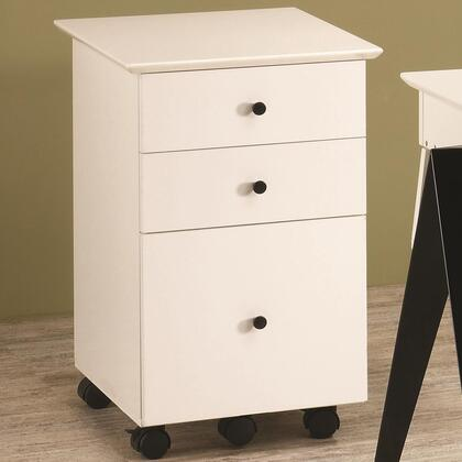 "Coaster 801064 20"" Wood Contemporary File Cabinet"