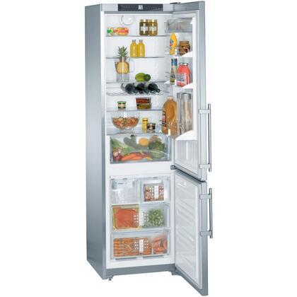 """Liebherr CS1310 24""""  Bottom Freezer Refrigerator with 13 cu.ft. Total Capacity 3.3 cu.ft. Freezer Capacity 4 Glass Shelves"""