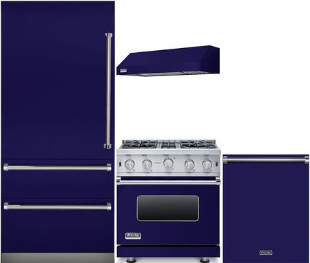 Viking 987529 4 piece Cobalt Blue Kitchen Appliances Package