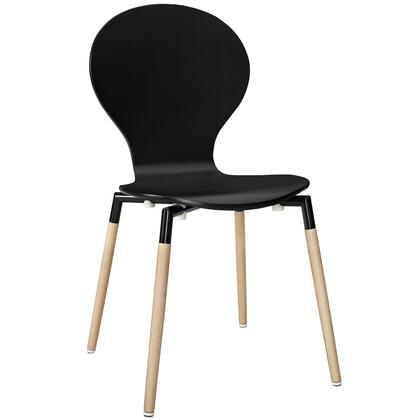 Modway EEI-1053 Path Dining Chair with Solid Beech Wood Legs, Fiberboard Frame, Plastic Non-Marking Foot Caps and Modern Design